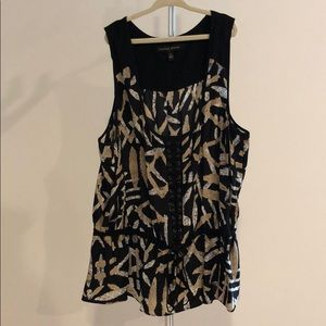 Cynthia Steffe Pattern Sleeveless Blouse